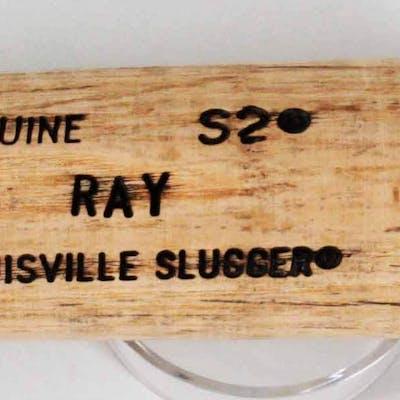 Johnny Ray Game-Used Baseball Bat Angels – COA