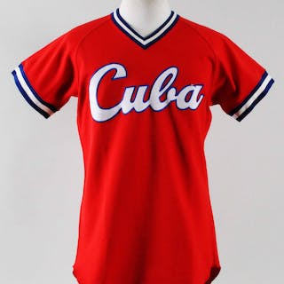 1993 Omar Linares Worn Practice Jersey Cuba National Team
