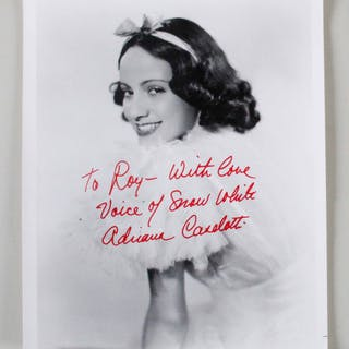 Adriana Caselotti Signed Photo – COA JSA