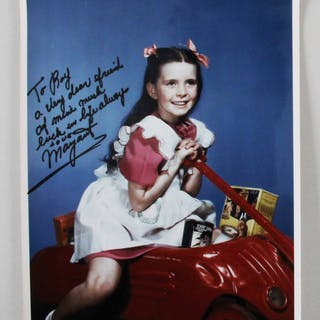 Margaret O'Brien Signed Photo – COA JSA