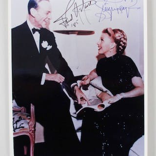 Ginger Rogers Signed Photo w/ Fred Astaire – COA JSA