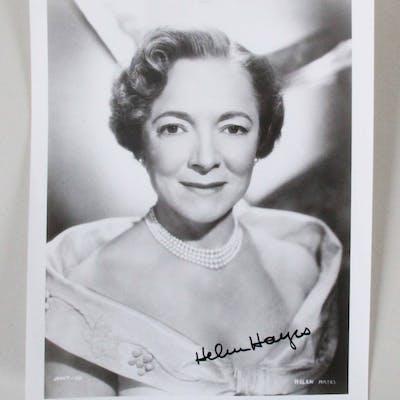 Helen Hayes Signed 8×10 Photo – COA JSA