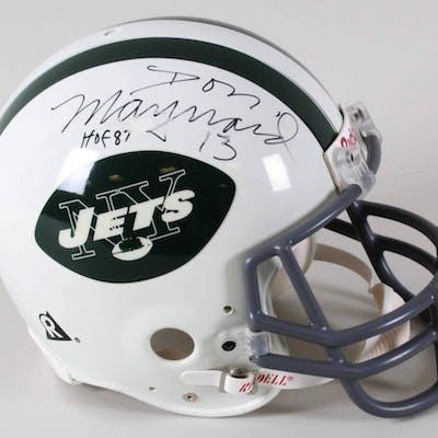 Don Maynard Signed Helmet Jets – COA JSA