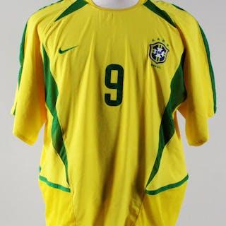 f9894f18af5 Ronaldo Team-Issued Jersey Brazil National Team 2002 – Current sales –  Barnebys.com
