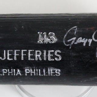 Gregg Jefferies Game-Used Bat Signed Phillies – COA 100% Authentic Team
