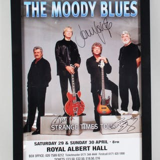 The Moody Blues Signed Strange Times Tour Poster – COA JSA – Current