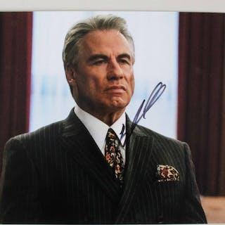 """John Travolta Signed 11×14 Photo """"Gotti"""" – COA PSA/DNA"""
