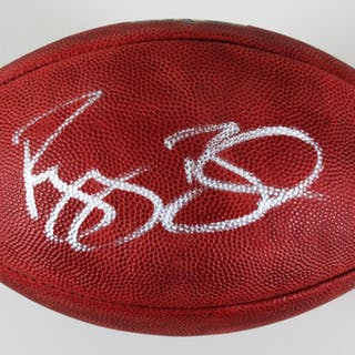 Reggie Bush Signed Football Saints – COA Player Hologram