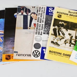 1960s-70s Vintage Hockey Programs Lot (7) Flyers, Seals, Bruins etc.