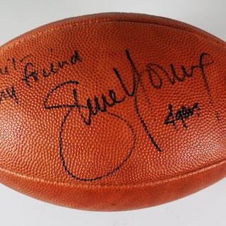 Steve Young Signed USFL Football 49ers – COA JSA