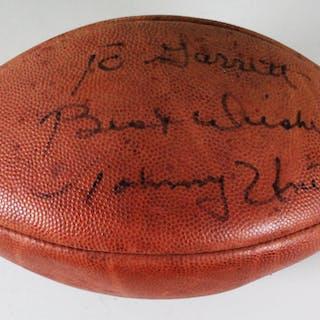 Johnny Unitas Signed Football Colts – COA JSA