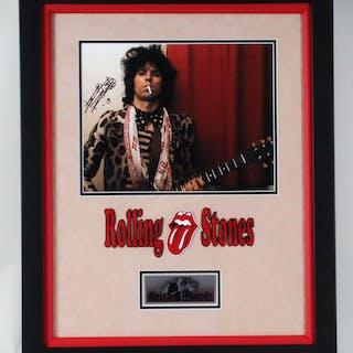 Keith Richards Signed Photo Framed Rolling Stones – COA PSA/DNA
