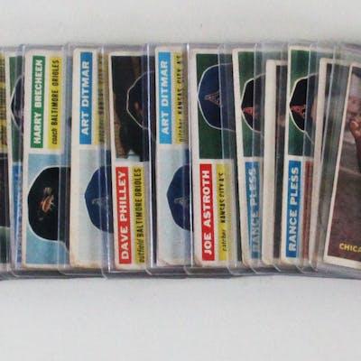 Vintage Baseball Card Lot (22) 1956 & '57 Topps Nellie Fox, etc.