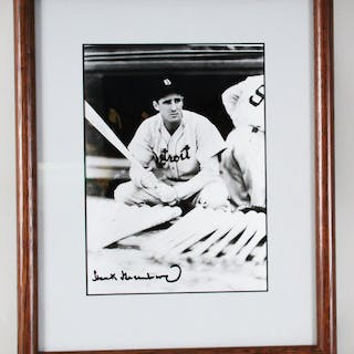 Hank Greenberg Signed Photo Tigers – COA JSA