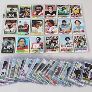 Vintage 1970's Football Card Lot 50+ Incl. Johnny Unitas, O.J. Simpson