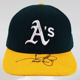 super popular 4fb16 9ec91 Jason Giambi Signed Game-Used Hat Athletics – COA SCD