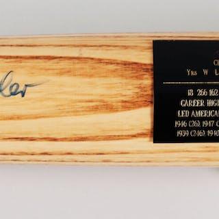 Bob Feller Signed Baseball Bat Indians – COA JSA