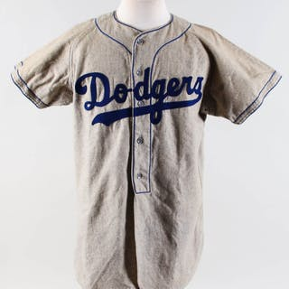 Vintage 1950's Brooklyn Dodgers Flannel Jersey Rube Walker #10