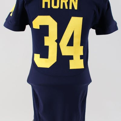 Avery Horn Game-Worn Jersey Michigan Wolverines