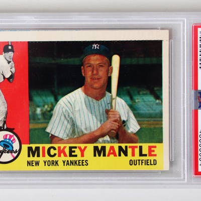 1960 Topps Mickey Mantle Baseball Card 350 Psa Graded