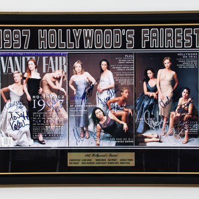 1997 Vanity Fair Actresses Signed Magazine Display (10) Kate Winslet