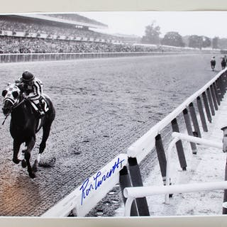 Ron Turcotte Signed Photo 16×20 Horse Racing – COA JSA