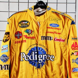 NASCAR Race-Worn Racing Suit Signed by Robert Yates