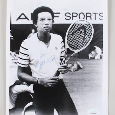 Arthur Ashe Signed 8×10 Photo Tennis – COA JSA