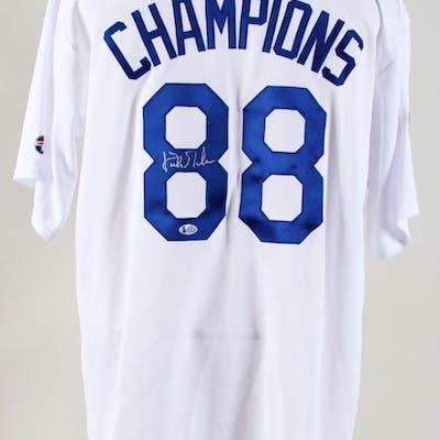 newest 51857 058a6 Kirk Gibson Signed Jersey Dodgers – COA BAS   Barnebys
