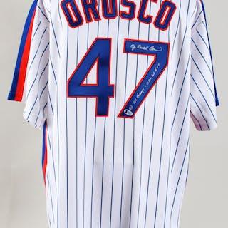 25d056dc Jesse Orosco JR Signed Jersey Mets – COA BAS