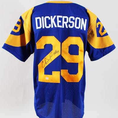 Eric Dickerson Signed Jersey Rams – COA PSA/DNA