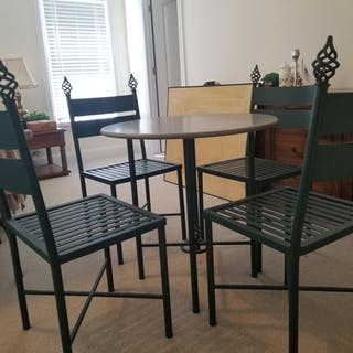 1996 Olympic Used Table and Chairs-Presidential Suite- COA 100% Authentic