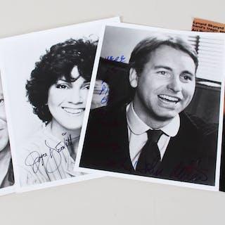Three's Company Signed Photo Lot (4) John Ritter, etc. – COA JSA