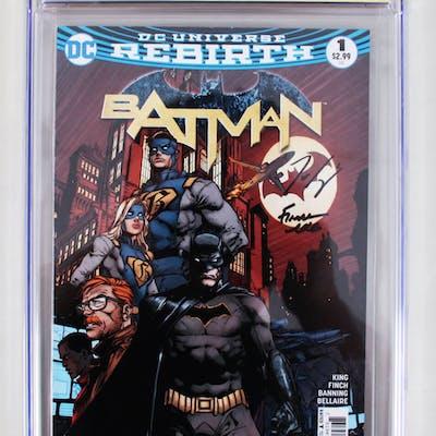 Batman #1 Signed Graded Comic Book – CGC 9.4