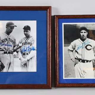 Bob Feller & Carl Hubbell Signed Photo Lot – COA JSA