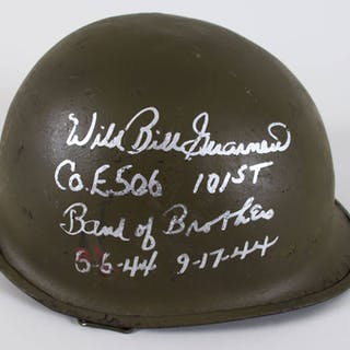 Wild Bill Guarnere Signed WW2 Helmet – COA PSA/DNA