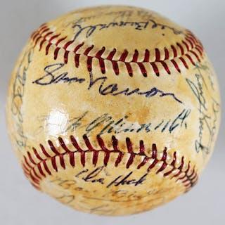 1959 Pittsburgh Pirates Team Signed Ball Roberto Clemente Dick Hoak – COA JSA