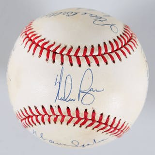 300 Win Club Signed Baseball (8) Nolan Ryan, Tom Seaver, etc – COA JSA
