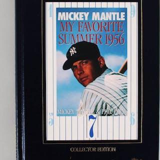 Mickey Mantle Signed Book Yankees – COA JSA