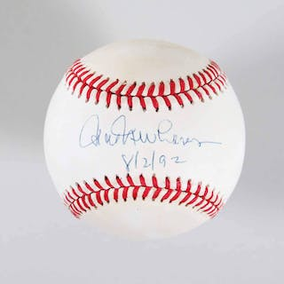 Hal Newhouser Signed Baseball Tigers – COA