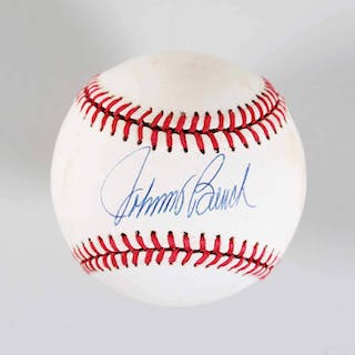 Johnny Bench Signed Baseball Reds – COA JSA