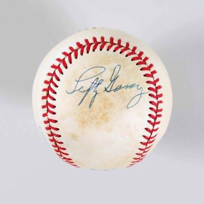 Lefty Gomez Signed Baseball Yankees – COA JSA