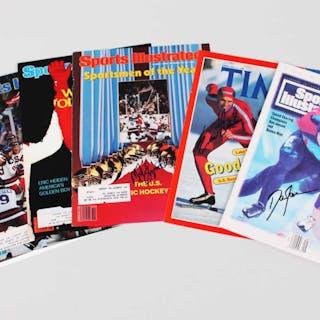 Olympic Signed Magazine Cover Photo Lot (6) – COA PSA/DNA