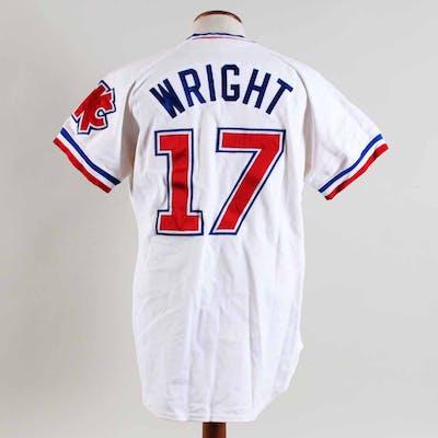 best service 4d62a 658e1 Oklahoma City 89ers Game-Worn Baseball Jersey (Wright #17 ...