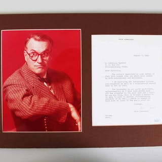 Dave Garroway Signed Letter Matted Display – COA JSA
