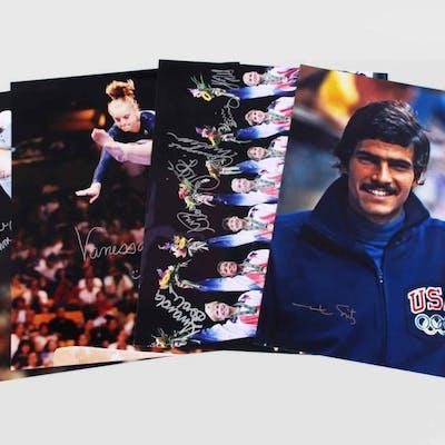 Oylmpic Gold Medalist Signed 16×20 Photo Lot (4) Mark Spitz, Moceanu