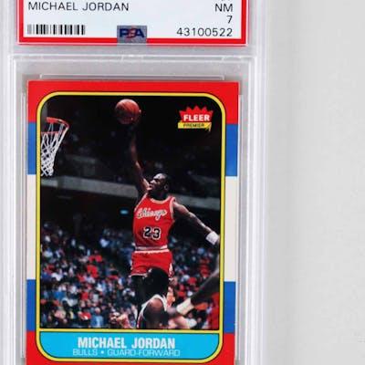 1986 87 Fleer Basketball Michael Jordan Rookie Card Rc 57