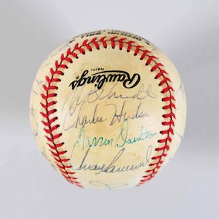 1986 Phillies Team-Signed Baseball (24) Mike Schmidt, Carlton – COA JSA