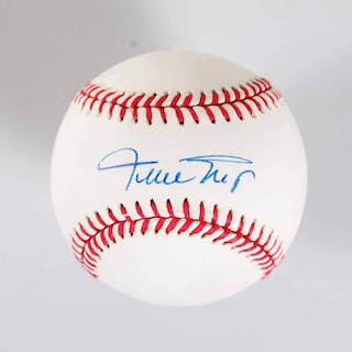 Willie Mays Signed Baseball Giants – COA JSA