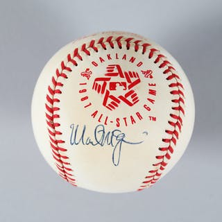 Mark McGwire Rookie Signed Baseball Athletics – COA PSA/DNA